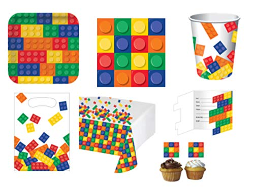67 Teile Partyset Bausteine für den Kindergeburtstag