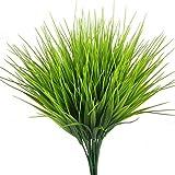 TOOGOO Impianti all'aperto artificiali, 4 pz falso di plastica verde erba di grano Arbusti Bush Flowers Filler coperta davanti alla casa House Garden Ufficio Decor