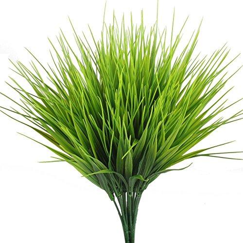 TOOGOO Plantas artificiales al aire libre, 4 piezas Falsos arbustos de plantas plasticas de trigo Arbustos rellenos y al aire libre Decoracion de la oficina del jardin de la casa casera