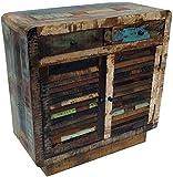 Guru-Shop Petto D`epoca con Ante a Persiana e due Cassetti HO11018, 90x90x38 cm, Cassettiere e Credenze