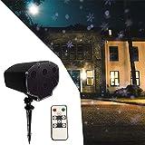 HLDUYIN Outdoor Projektionslampe 180 drehen Rasen Schnee Falllicht IP65 Wasserdichte LED-Fernbedienung 9W Licht