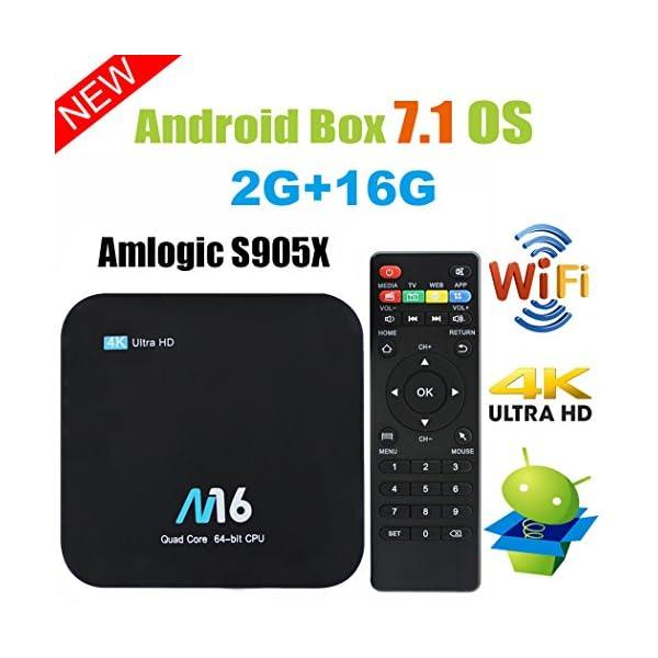 TV-BOX-Android-71-VIDEN-Smart-TV-Box-Dernire-Amlogic-S905X-Quad-Core-2Go-RAM-16Go-ROM-4K-UHD-H265-Bluetooth-40-USB-HDMI-WIFI-Lecteur-Multimdia-pour-Divertissement--Domicile-Tlcommande