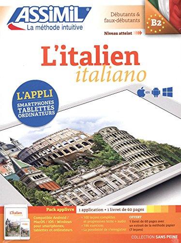 L'italien B2 : Pack applivre 1 application + 1 livret de 60 pages