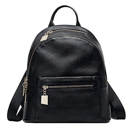 E-Girl Q0794 femme Cuir hybride Sac à dos Sacs portés,27x14.5x30 L x W x H (cm) Noir