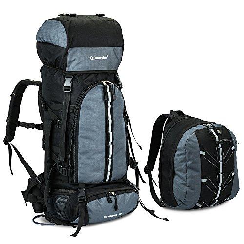 be83901dbb Skysper 70L Zaino da Trekking + 10L Piccolo Sacchetto Rimovibile,  Impermeabile Backpack Zaino Grande Capacità