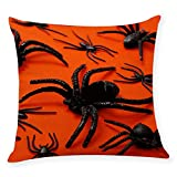 LANDFOX Spinne Halloween Umarmung Kissenbezug Wohnkultur Umarmung Kissenbezug Home Decor Throw Kissenbezug 100% Baumwolle mit Reissverschluss Sofakissen Dekokissen Kissen Bezug