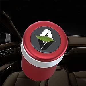 for Automotive Interiors Kompatibel Mit Audi Blauen LED-Lichtern Hochtemperaturbest/ändiges Mehrzweck-Fahrzeugaschenbecher Auto-Aschenbecher Color : Black Waschbar Mit Deckel