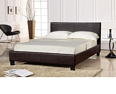 Brand New Faux Leather BLACK King Size Bed Frame 5ft - BLACK Express Delivery produced by mfh - quick delivery from UK.