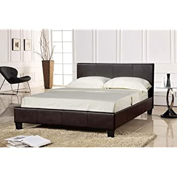 Brand New Faux Leather BLACK King Size Bed Frame 5ft BLACK
