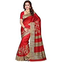 Sarees (for Women Party Wear Offer Designer Sarees New Collection Today Low Price Sarees Below 500 In Multi-coloured Cotton Silk Bhagalpuri Material Latest Saree With Designer Blouse Free Size Beautiful Bollywood Sarees With Blouse)