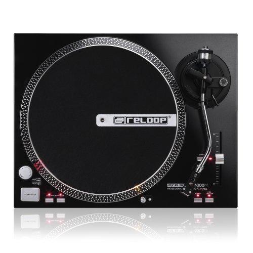 Reloop RP-4000M – DJ Plattenspieler mit starkem Torque Direktantrieb, Pitchbereich (10%/20%) mit Quartz-Lock Arretierung, (schwarzmetallic)