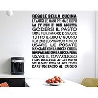ADESIVI MURALI FRASI REGOLE DELLA CUCINA WALL STICKERS FRASE CITAZIONE ADESIVO MURALE DECORAZIONE INTERNI StickerDesign