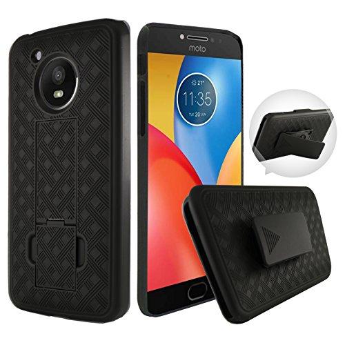 Motorola Moto E4Fall, Moto E4Fall, customerfirst, schwenkbar Slim Gürtelclip Holster Schutzhülle, Defender Cover w/[Gürtelclip Ständer] für Moto E4, Schwarz - Von Entsperrt Handys Verizon