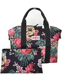 Cath Kidston–Bolso de la compra plegable Bloomsbury Bouquet Charcoal