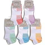 3 Paar moderne Damen Sneaker Socken - Füßlinge - Sportsocken im Farbset