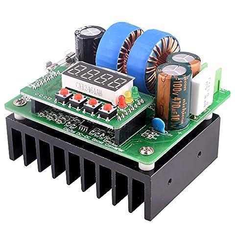 Quimat DC / DC Boost Convertisseur, Digital-Contrôlée Alimentation Stabilisateurs 6V-40V à 8V-80V Step-up Régulateur de Tension 400W / 10A avec LED Disply pour Ordinateur Portable et Amp Voiture QY02