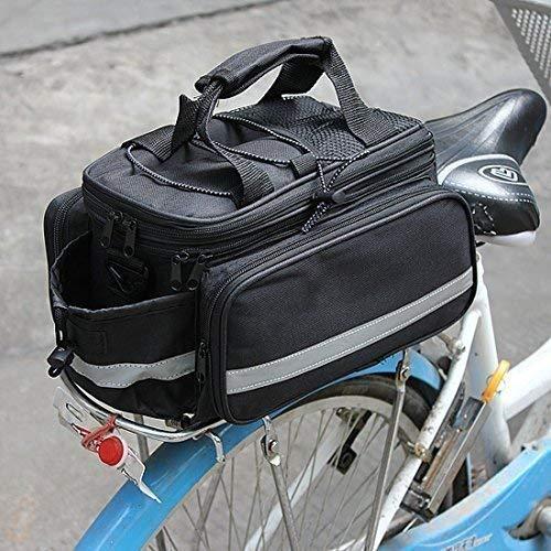 Garden mile Expansible negro Miriñaque Bicicleta Bici almacenaje Sillín Trasero Asiento Bosa Viaje + cubierta lluvia
