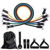 HEAWAA Fitness Bänder Expander Widerstandsbänder Set für Ganz - Körper - Workout, 5 Stück