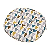 Hosaire Coussins de Chaise Esthétique et Confortable Ronde Motif de Triangle de Colorées Coussins d'Assise Décoration pour intérieur et extérieur Chaise de Jardin