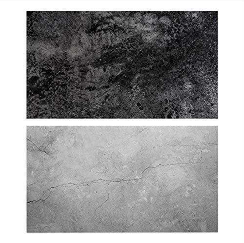 TAOtTAO Retro hölzernes nahtloses Hintergrundpapier 22x35 Zoll 2-in-1 für Fotografen Doppelseitiges Hintergrundpapier (C) -
