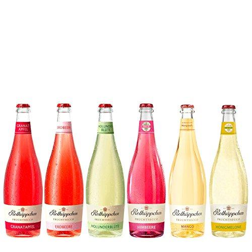 Mix-Set Rotkäppchen Fruchtsecco Erdbeere,Granatapfel,Holunderblüte,Himbeere,Mango,Honigmelone (6 x 0,75l) - Die fruchtige Alternative im Glas.