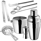 tectake Cocktailshaker Cocktail Set 8-teilig Shaker Bar Mixer