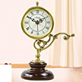 El Reloj De Bronce Antiguo Estilo Europeo Silenciar La Sala De Estar/Moda Creativa Moderna Dormitorio Reloj Mesa Ornamento-A