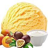 Joghurt Pfirsich Maracuja 333 g Gino Gelati Eispulver Geschmack für