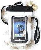 PRESKIN - Wasserfeste Taschen bis 4.5'' Zoll Display, Wasserdichte Smartphone Schutzhülle (Beachbag4.5''White) Handy Hülle mit Touchscreen Funktion wie Schutzfolie / Displayfolie, Waterproof / water resistant mobile bag / pouch / case für Samsung, Motorola, Sony, Nokia, LG, Huawei, Apple iPhone 5S, 5C, 5, 4S, 4, HTC (Beachbag4.5''White)