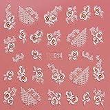 EVTECH (TM) 5 PCS-Nagel-Aufkleber-Nagel-Kunst-Werkzeug 3D Sticker Craved Blumen Schmetterling Love Heart Lächeln Blüte Schöne Nail Sticker Tatoo