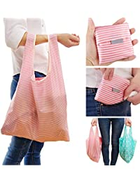 Generic 6 : New Foldable Friendly Reusable Eco Storage Solid Color Travel Shopping Tote Grocery Bags NEW 35 *...