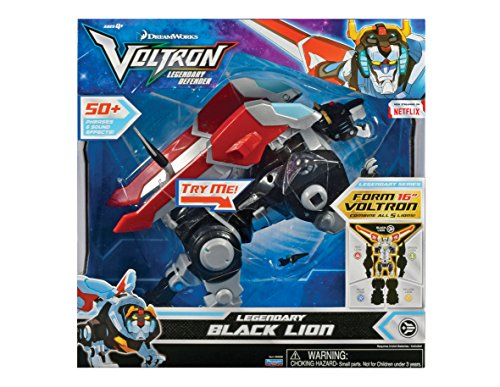 Voltron VLA00111 ENG IC Legendary Lion Deluxe Figure, Nero