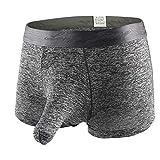 ❤️Higlles Slip Homme JJ Culotte Glace Soie, Sexy Hommes Éléphant Bulge Boxer Pouch T Lingerie Shorts...