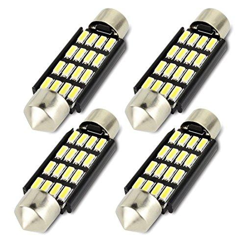 Preisvergleich Produktbild Safego 4x C5W 41mm LED Kennzeichenbeleuchtung Canbus 16-4014SMD Innenbeleuchtung Für Europäisches Auto 211,211-2,578,12844,DE440 Xenon Weiß 6000K 12V 2W