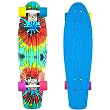 Penny Skateboard Graphic Series - Skateboard ( bolas, ejes, tablas, Tie Dye, retro, crucero ) , color (Tie Dye), talla 27 Zoll