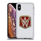 Head Case Designs Officiel WWE RAW Women's Champion Ceintures de Titre Coque en Gel Doux Compatible avec iPhone XS Max