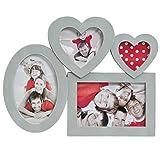 Bilderrahmen Collage für 4 Fotos mit Herz Mehrfachbilderrahmen Shabby chic