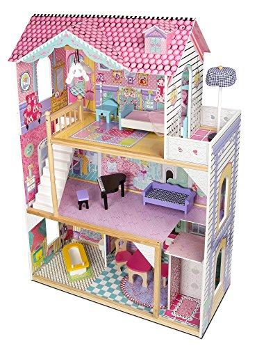 Exclusive-Residence-Villa-de-madera-para-las-muecas-3-pisos-con-un-ascensor-Casa-de-muecas-de-madera-Dimensiones-855-cm-33-cm-121-cm