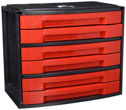 Tayg 8910203 Casier de rangement à six tiroires, Noir