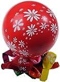 Farbige Ballons mit Blumen bedruckt,10 Stk