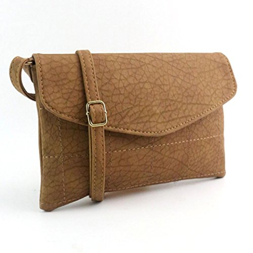 Donna Femmina Vintage Busta Pacchetto Borsa Messenger Sella Pu In Pelle by Kangrunmy Cachi