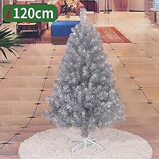 WZR Artificial Árbol De Navidad Artificial Tinsel,120cm Árbol De Navidad con Soporte En Metal Decoración Navideña Interior