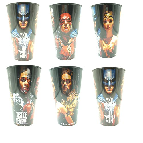 (Justice League Kunststoff Tumbler Cups Party Summer Fun Batman – New X6)