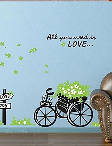 Wall Stickers Wall Decals, Bike PVC Wall Stickers