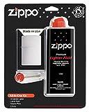 Zippo Kit tout-en-un avec coupe-vent en Chrome