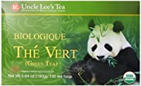 Uncle Lee's Tea Organic Green Tea, 100-Count Box (Pack of 4)