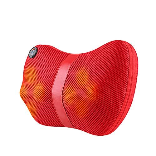 Nacken- und Rückenmassagegerät Shiatsu Massage-Kissen mit Infrarotheizung Tiefengewebsmassage Knet-Massagegerät für Schulter, Taille, Entspannung, Muskelschmerzen lindern-Einsatz in Heim Auto und Büro (Knet-massagegerät Auto)