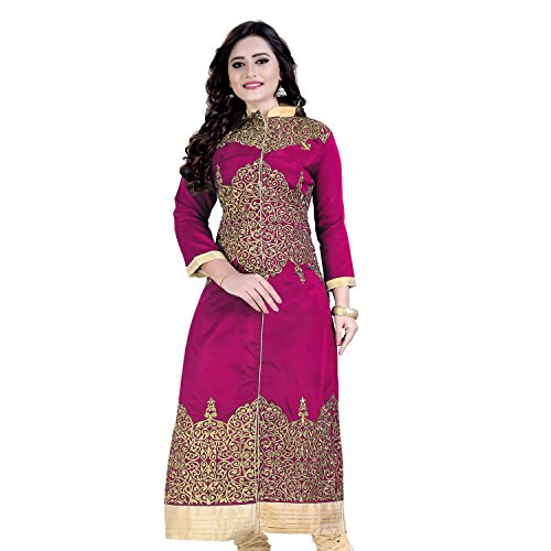 Siddeshwary Fab Women's Cotton Silk D-01_Pink-kurti