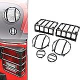 Bestsxma One set accessori in acciaio INOX auto LED light Guard copertura cappuccio per fanale posteriore faro luce di stazionamento