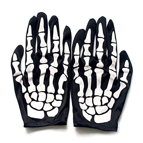 Dooret Terror Skelett Handschuhe Geisterknochen Für Erwachsene Halloween -
